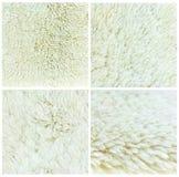 Fondo della pelle di pecora della raccolta, insieme 4 Fotografia Stock Libera da Diritti