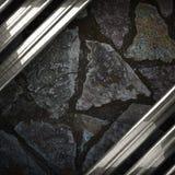 Fondo della pietra e del metallo Immagini Stock Libere da Diritti