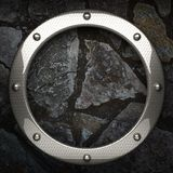 Fondo della pietra e del metallo Immagine Stock Libera da Diritti