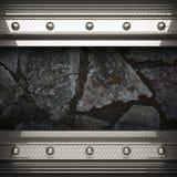 Fondo della pietra e del metallo Fotografia Stock