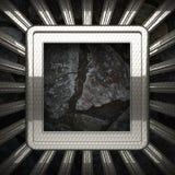 Fondo della pietra e del metallo Immagini Stock