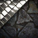 Fondo della pietra e del metallo Immagine Stock