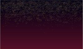 Fondo della pioggia di scintillio con oscurità porpora illustrazione di stock