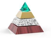 fondo della piramide isolato 3D Fotografia Stock Libera da Diritti