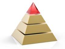 fondo della piramide isolato 3D Immagini Stock