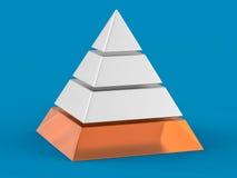 fondo della piramide isolato 3D Fotografie Stock