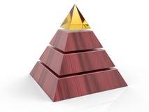 fondo della piramide isolato 3D Fotografie Stock Libere da Diritti