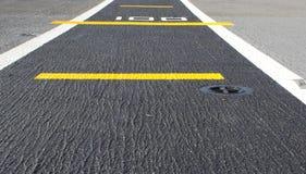 Fondo della pista di atterraggio della strada Fotografia Stock