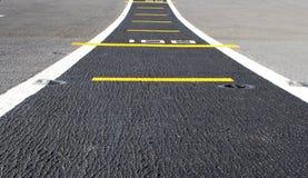 Fondo della pista di atterraggio della strada Immagine Stock