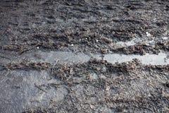 Fondo della pista di sporcizia del fango immagini stock libere da diritti