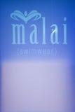 Fondo della pista durante il Malai - il colombiano di Protela marca a caldo la sfilata di moda Immagini Stock