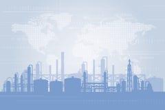 Fondo della raffineria di petrolio Fotografie Stock