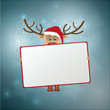 Fondo della renna di Natale Fotografia Stock Libera da Diritti