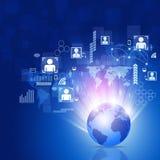 Fondo della rete di affari di mondo Immagine Stock