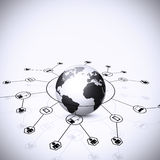 Fondo della rete globale Fotografie Stock