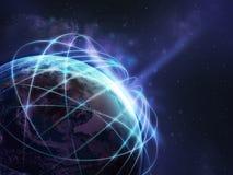 Fondo della rete globale Fotografia Stock