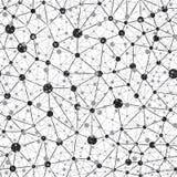 Fondo della rete neurale di Seamlees Immagini Stock