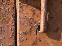 Fondo della ruggine della superficie di metallo del ferro Immagine Stock