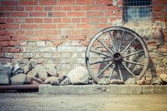 Fondo della ruota di vagone Fotografie Stock Libere da Diritti