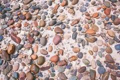 Fondo della sabbia e del ciottolo Fotografia Stock