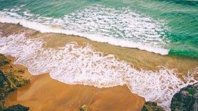 Fondo della sabbia e del mare Fotografia Stock Libera da Diritti