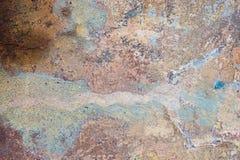 Fondo della sbucciatura e incrinato vecchio della parete della pittura Lerciume classico Immagine Stock Libera da Diritti