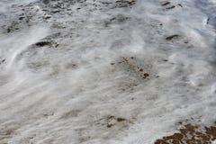 Fondo della schiuma del mare Fotografia Stock Libera da Diritti