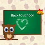 Fondo della scuola Di nuovo al banco illustrazione vettoriale