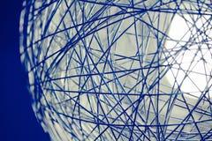 Fondo della sfera di web del metallo Immagine Stock