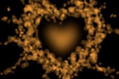 fondo della sfuocatura del bokeh del cuore della fiammata Fotografia Stock