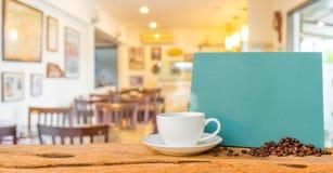 Fondo della sfuocatura della caffetteria con bokeh Fotografia Stock