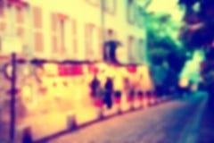 Fondo della sfuocatura della Francia Fotografia Stock