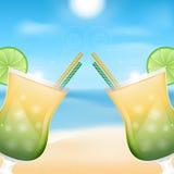 Fondo della spiaggia Immagini Stock