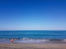 Fondo della spiaggia del mare Fotografia Stock Libera da Diritti