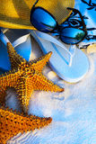 Fondo della spiaggia del mare di feste di Art Summer Fotografia Stock