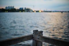 Fondo 2 della spiaggia di tramonto Fotografie Stock Libere da Diritti