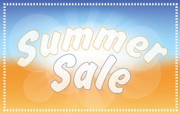 Fondo della spiaggia - vendita di estate Immagini Stock Libere da Diritti