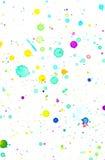 Fondo della spruzzata di colore di acqua illustrazione di stock