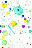 Fondo della spruzzata di colore di acqua Fotografia Stock Libera da Diritti