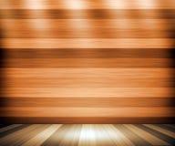 Fondo della stanza di bordi di legno illustrazione di stock