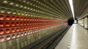 Fondo della stazione della metropolitana Immagini Stock
