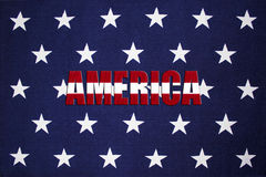 Fondo della stella con l'AMERICA in bande immagine stock libera da diritti