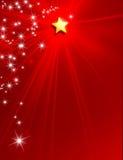Fondo della stella del nuovo anno di Natale Fotografie Stock