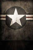 Fondo della stella dell'esercito Fotografia Stock