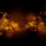 Fondo della stella di scintillio della polvere di oro di Bokeh Via Lattea astratta illustrazione di stock