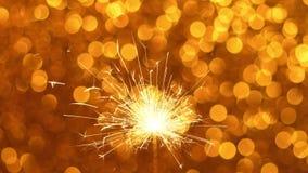 Fondo della stella filante e di Natale o del nuovo anno archivi video