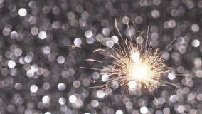 Fondo della stella filante e di Natale o del nuovo anno video d archivio