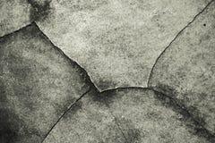 Fondo della strada del cemento della crepa Immagini Stock