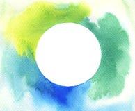 Fondo della struttura del cerchio dell'acquerello Immagine Stock