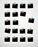 Fondo della struttura della foto della polaroid Fotografie Stock Libere da Diritti